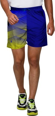 Proplay Printed Men's Blue Sports Shorts