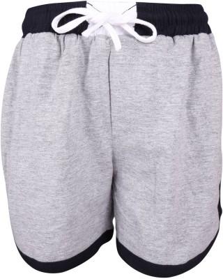 Lava Solid Boy's Grey Bermuda Shorts
