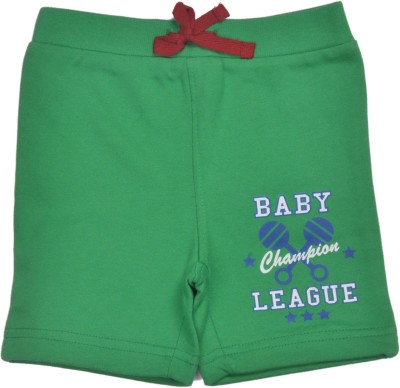 Bio Kid Printed Baby Boy's Green Cargo Shorts