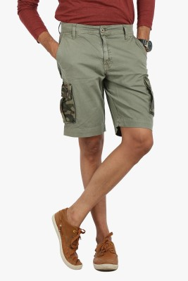 Global Nomad Solid Men's Light Green Cargo Shorts