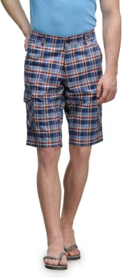 Canary London Checkered Men's Blue Basic Shorts