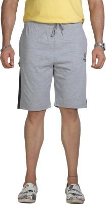 Allocate Solid Men's Grey Gym Shorts, Night Shorts, Running Shorts