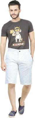 Dolce Hugo Solid Men's White Beach Shorts, Basic Shorts