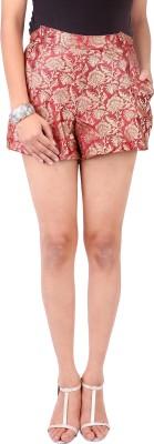 Zachi Floral Print Women's Red Basic Shorts