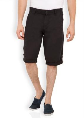 Locomotive Solid Men's Black Bermuda Shorts