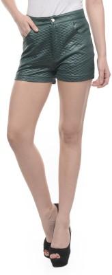 Mayra Solid Women's Green Hotpants at flipkart