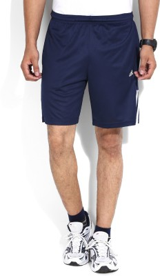 Adidas Solid Men's Blue Sports Shorts