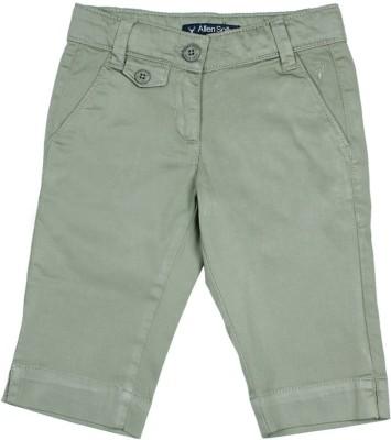 Allen Solly Solid Boy's Green Basic Shorts