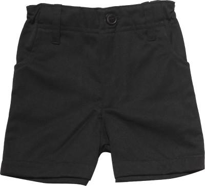 Babeez World Solid Boy's Black Basic Shorts