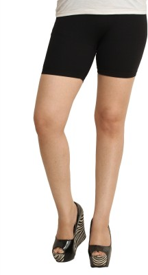 Celebrity Solid Women's Black Cycling Shorts