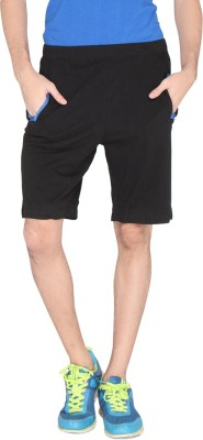 LUCfashion Solid Men's Black, Blue Sports Shorts