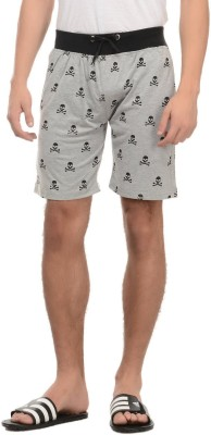 Rose Taylor Printed Men's Grey Basic Shorts