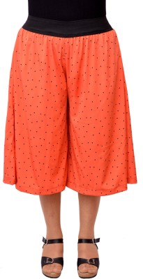 V3ishop Printed Women's Pink Culotte Shorts