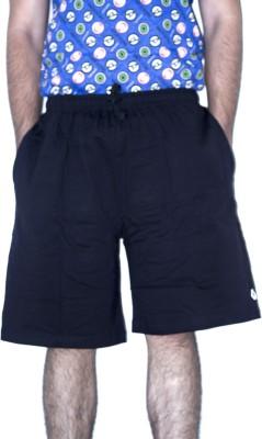 khaiber Solid Men's Black Baggy Shorts