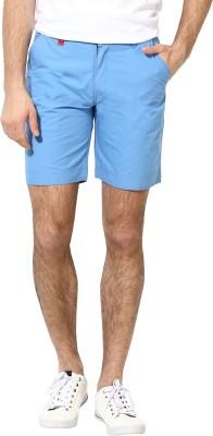 Silver Streak Solid Men,s Blue, Red Basic Shorts