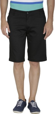 Inspire Solid Men's Black Chino Shorts