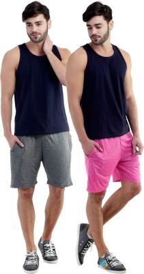 Dee Mannequin Self Design Men's Grey, Pink Sports Shorts