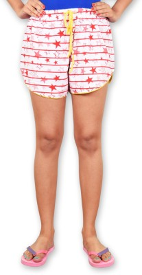 Riot Jeans Printed Women's Red Boxer Shorts