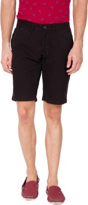 The Indian Garage Co. Solid Men's Black Basic Shorts