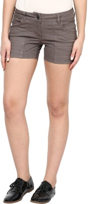 Species Solid Women's Brown Basic Shorts