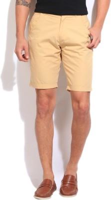 Pepe Jeans Solid Men's Beige Basic Shorts