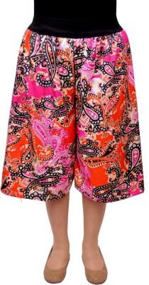 V3ishop Paisley Women's Multicolor Culotte Shorts