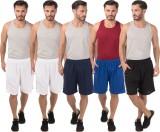 Meebaw Self Design Men's White, White, D...