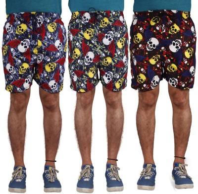 American-Elm Printed Men's Multicolor Night Shorts
