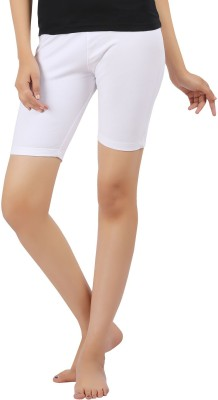 Softwear Solid Women's White Cycling Shorts