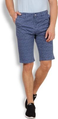 I-Voc Printed Men's Blue Chino Shorts