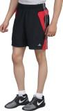 Hannspree Solid Men's Black, Red Gym Sho...