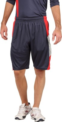 Campus Sutra Solid Men's Blue Sports Shorts