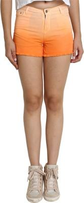 SMART DENIM Woven Women's Orange Denim Shorts