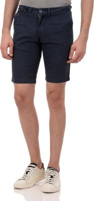 Ebry Solid Men's Blue Chino Shorts