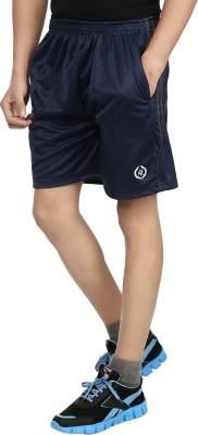 Fashion Flag Solid Men's Dark Blue Basic Shorts