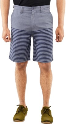 Blue Wave Printed Men's Blue Basic Shorts