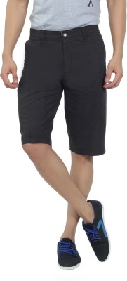 Live In Solid Men's Grey Basic Shorts