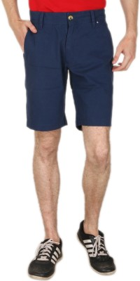 Blimey Solid Men's Blue Chino Shorts