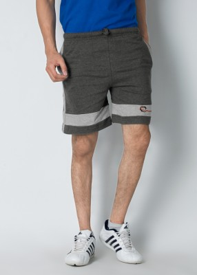 Chromozome Solid Men's Grey Shorts