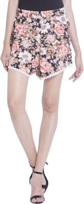Globus Floral Print Women's Multicolor Basic Shorts