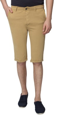 883 Police Solid Men's Beige Chino Shorts