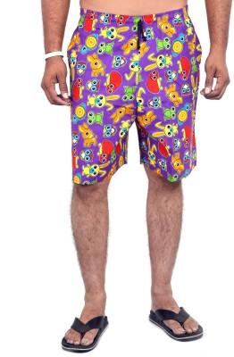 Indigen Printed Men's Multicolor Beach Shorts