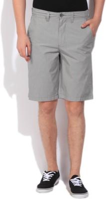 Jeanswest Australia Striped Men's Grey Basic Shorts