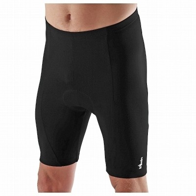 Btwin Solid Men's Black Sports Shorts