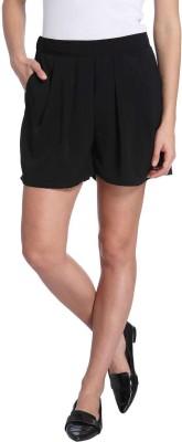 Vero Moda Solid Women's Black Denim Shorts
