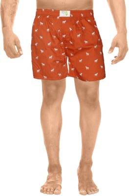Clickroo Printed Men's Red Boxer Shorts