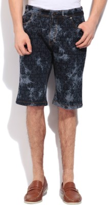 High Star Printed Men's Black, Grey Basic Shorts
