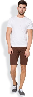 The Indian Garage Co. Solid Men's Brown Chino Shorts