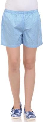 California Club Printed Women's Blue Boxer Shorts