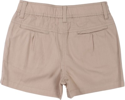 ShopperTree Solid Girl's Brown Basic Shorts